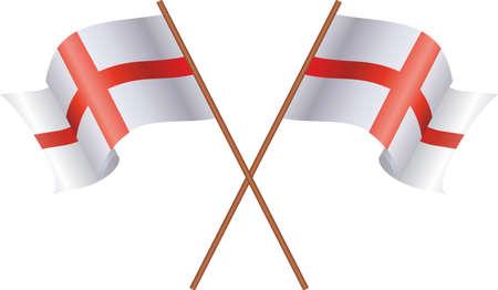 영국 흰색 배경에 고립의 두 플래그