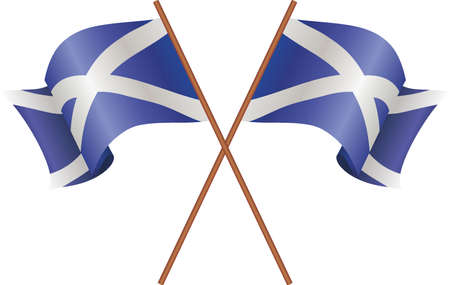 Two flag of Scotland Ilustrace