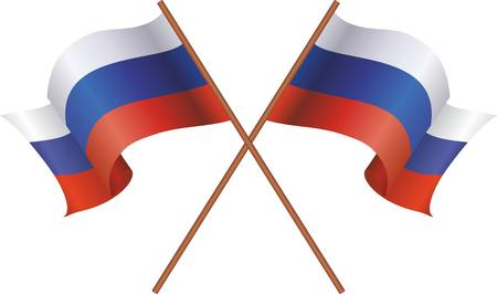 Two flag of Russia