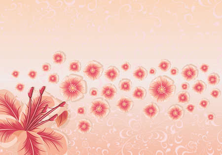 Greeting card or invitation seamless background with flowers Vector illustration. Ilustrace