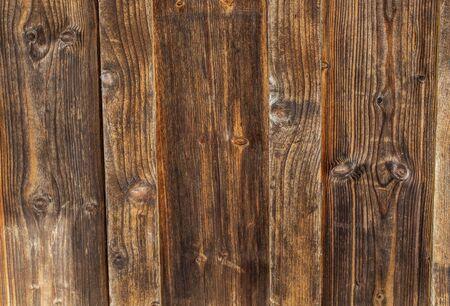 Old vintage planked wood texture background.