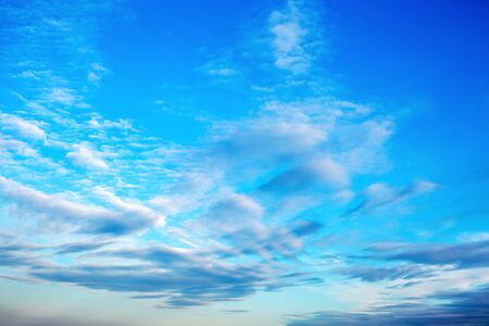 Beautiful sky with pattern of blue and white clouds