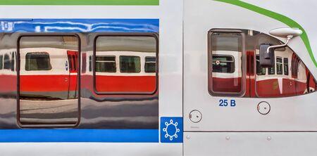 Train Art Railway Station Helsinki finland Stok Fotoğraf