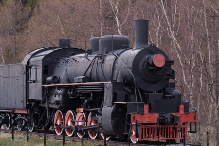 old train at the circum-baikal railway Stock Photo - 14819820
