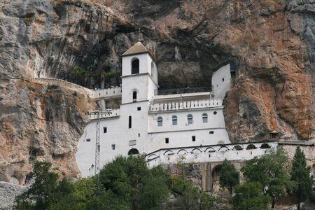 Mountain Ostrog monastery in Montenegro