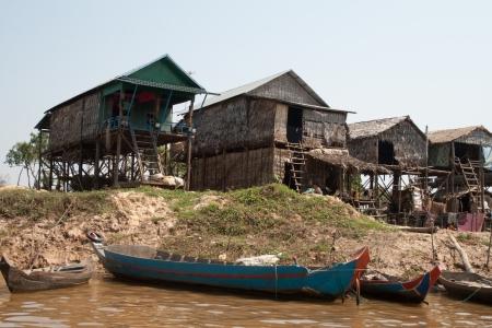 The floating village on Tonle Sap lake Stock Photo - 14819830