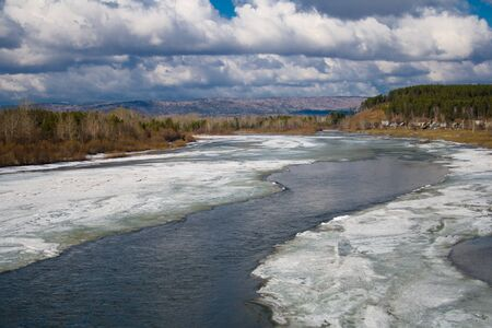River in the spring and the melting ice Stock Photo - 13710291