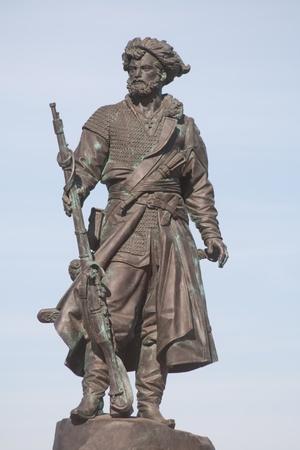 trailblazer: Monument to the founders of the city of Irkutsk