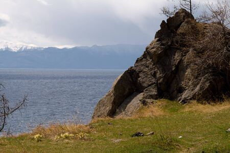 Cape on the shore of Lake Baikal Stock Photo - 14632155