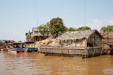 The floating village on Tonle Sap lake Stock Photo - 15013077