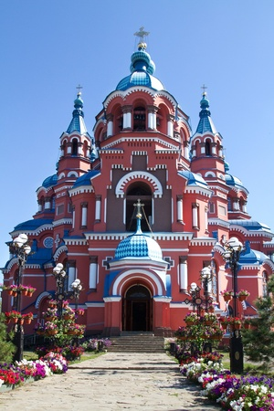 Kazan Cathedral in the city of Irkutsk, Russia