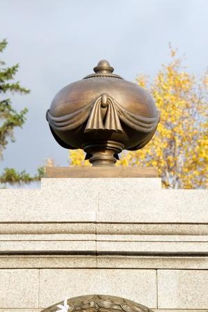 founder: Monument to the founder of Krasnoyarsk Ryazanov Stock Photo