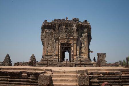 Las ruinas de un antiguo templo en Angkor, Camboya