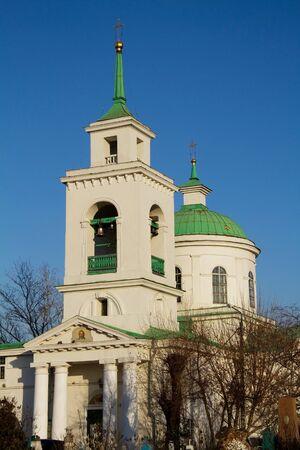 Holy Trinity Cathedral in Krasnoyarsk Stock Photo