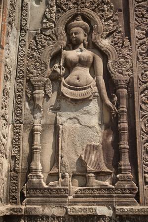 bas relief: Bas-relief sur le mur du temple d'Angkor Vat