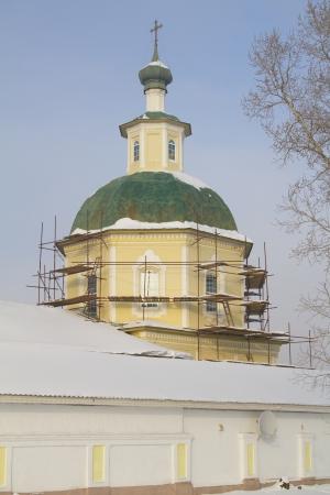 Transfiguration Church in the city of Irkutsk, Russia Stock Photo