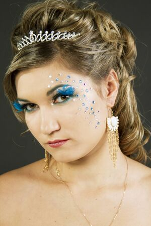 Portrait of a young sexy girl with beautiful makeup Stock Photo - 17527527