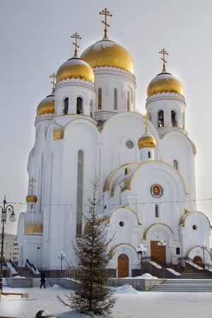 Temple of Christmas in Krasnoyarsk