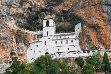 Ancient mountain monastery of Ostrog in Montenegro