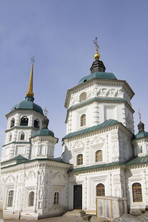 Holy Trinity  Svyato-Troickiy  temple in Irkutsk Stock Photo - 18317346