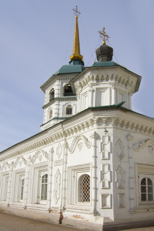 Holy Trinity  Svyato-Troickiy  temple in Irkutsk Stock Photo - 18317342