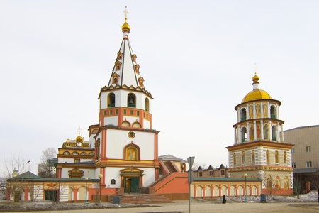 Cathedral of the Epiphany in Irkutsk Stock Photo - 18340310