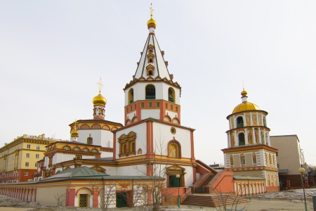 Cathedral of the Epiphany in Irkutsk Stock Photo - 18340591