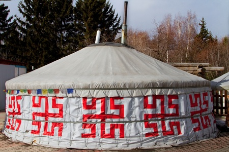 Buryat yurt in a Siberian city