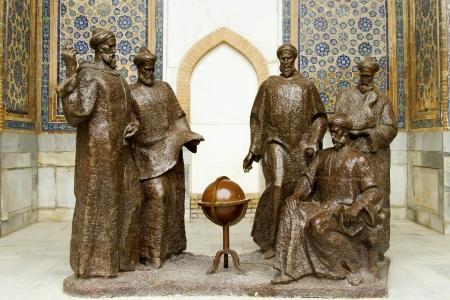 Astronomers Monument in Madrasah Ulugbek in Samarkand, Uzbekistan