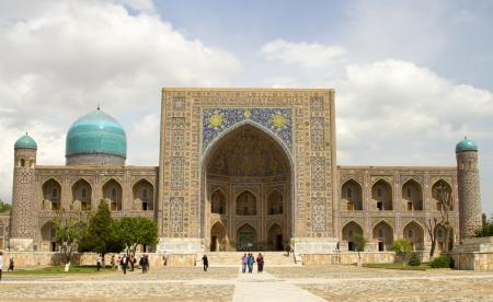 Tilla-Cali in Registan Square in Samarkand, Uzbekistan