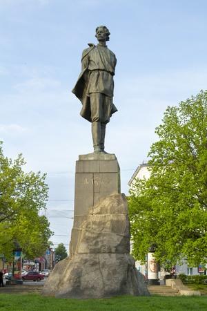 named person: Monument to Russian writer - Maxim Gorky in Nizhny Novgorod