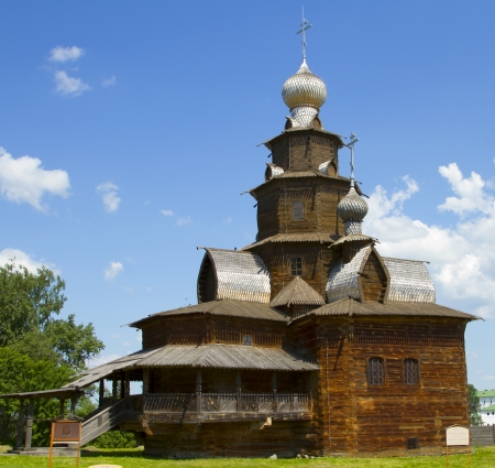 Old wooden church in Suzdal, Russia photo