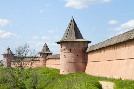 Wall and tower Spaso-Euthymius monastery in Suzdal photo