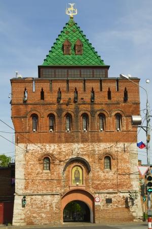 oka: The  towers of the Novgorod Kremlin in sunny weather