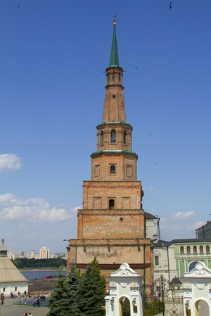 inclined: Leaning Tower in the Kazan Kremlin