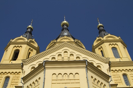 Catedral de Alexander Nevsky en Nizhny Novgorod Foto de archivo