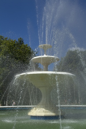 Fountain on a sunny day in a city park in Nizhny Novgorod photo