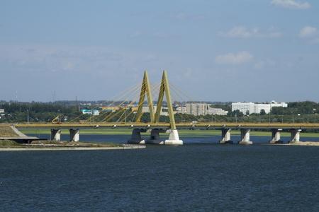 Millennium Bridge in Kazan, Russia
