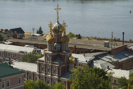 View of the city of Nizhny Novgorod from a high bank