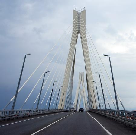 Vansu puente sobre el r�o Oka en Murom Foto de archivo
