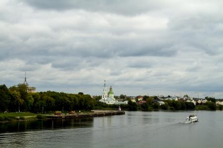 the volga river: The Volga River in Tver Stock Photo