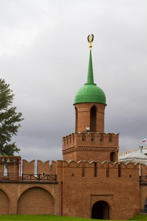 Brick wall and guard tower of the Tula Kremlin photo