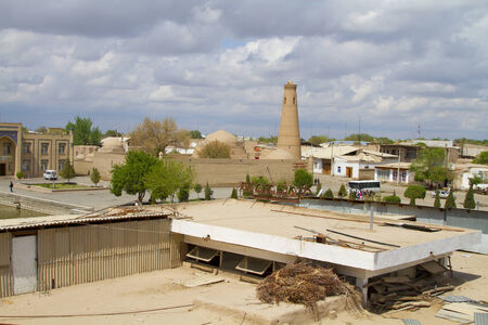 educational institution: The view from the balcony of the hotel to the old city of Khiva