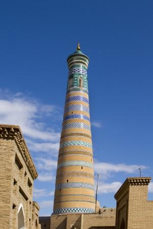The highest minaret in Khiva - Islam Khoja