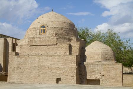 Tumbas antiguas en la ciudad de Asia Central de Khiva Foto de archivo