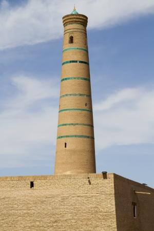Minaret in Khiva, Uzbekistan
