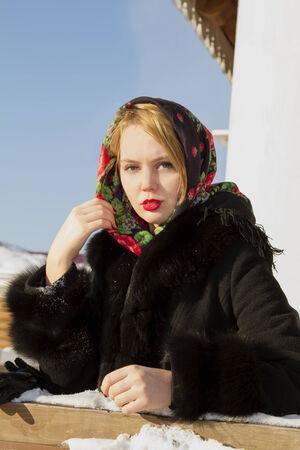slavic: Beautiful Slavic girl Stock Photo