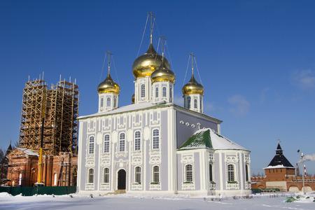 Catedral de Uspenski, en el territorio del Kremlin de Tula Foto de archivo
