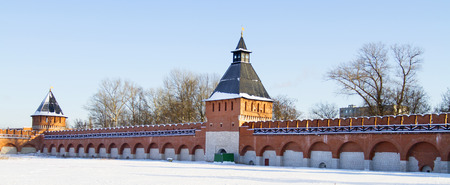 Ivanovskaya tower and tower of Ivanovskikh gate in the Tula Kremlin