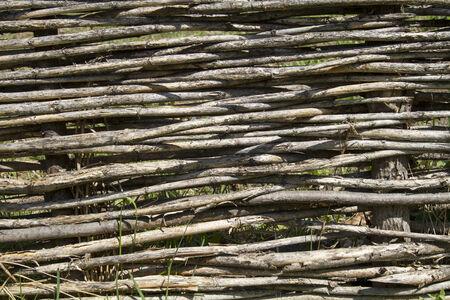 bendable: Wattle fence Stock Photo